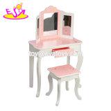 De nieuwe Heetste Toilettafel van de Make-up van Meisjes Houten voor In het groot W08h092