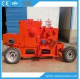 Ly318d大きい容量のトラクター無しの移動式ディーゼル機関の木製の砕木機