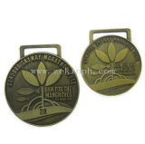 Изготовленный на заказ античные латунные медали сплава цинка для вознаграждений
