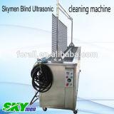 Ciego de la máquina de limpieza por ultrasonidos con tanque de lavado y tendedero