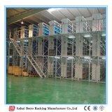 Estantería resistente ajustable de la plataforma del almacenaje del almacén con la certificación del Ce