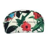De bloem drukt Shell van de Polyester de Kosmetische Zakken van de Vorm, de Zakken van de Make-up af