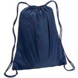 Polypropylenfördernder Drawstring Sports Rucksack-Beutel, mit Reißverschluss-Tasche