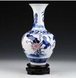 Vaas van het Porselein van Jingdezhen de Antieke Blauwe en Witte voor Decoratie