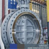 Работала из нержавеющей стали CF8/CF8m/CF3/CF3m с двумя фланцами двухстворчатый клапан
