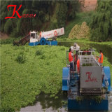 エクスポートするべき川か水生Weedの収穫機のボート