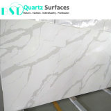 Pure White Body Calacatta Quartz Stone Slab