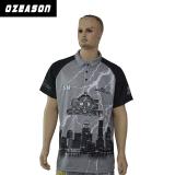 T-shirt du coton des divers hommes faits sur commande de types, polo américain d'impression de ville