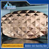 tarjeta que graba estérea del acero inoxidable 3D anti - placa decorativa de la hoja de acero del mosaico