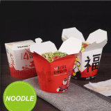 La impresión a todo color quita las cajas de cartón redondas de los alimentos de preparación rápida