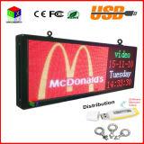Signe polychrome de P5 DEL 15 '' x40 ''/texte DEL défilement de support annonçant l'écran/l'Afficheur LED extérieur visuel image programmable
