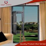 Spitzeninsekt-Beweis-Aluminiumrahmen-Doppeltes glasig-glänzendes Flügelfenster-Fenster
