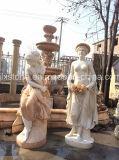 Signora di marmo Statues del giardino con la fontana