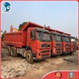容易貨物出荷は構築のための6X4によって使用されたVolvoのダンプトラックを手動変形させた