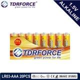 Pile alcaline primaire 1.5volt sec avec ce/ISO 20pcs/boîte de 5 ans Durée de vie (LR6/AM-3/AA)