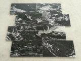 オースティンの台所浴室の革壁の床のための黒い大理石のオニックスの革終わり