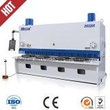Machine de plaque métallique de cisaillement de massicot de feuille hydraulique de QC11y