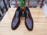 Zapatos de cuero hechos a mano de la planta del pie de cuero de la vaca del estilo de Oxford los mejores