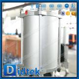 Venda superior Didtek assentados de metal através da canalização da válvula de gaveta da faca pneumática