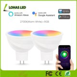 MR16 de 5W (GU5.3) WiFi no requiere la bombilla del cubo de cambio de color RGB+luz 5800K Tuya Smart Spotlight