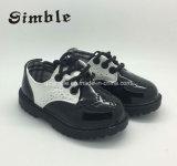 Infant Toddler Prewalker Preto pé calçado de couro casual do bebé