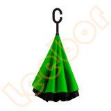 عكس صامد للريح ال يعكس [ك] مقبض مظلة مع تصميم داخلا