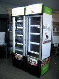 Novo Produto Porta de vidro Supermercado Bebidas Chiller Aberto