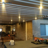 Pergola esterno resistente all'intemperie del baldacchino con gli indicatori luminosi del LED
