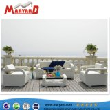 L'Italie Morden canapé en cuir des chaises en cuir Table tissu Sunbrella canapé de plein air