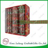 Het Broodje van het Lint van de Plaid van Kerstmis voor Decoratie Geweven Lint