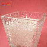 مربّع يشكّل ماء تأثير زجاجيّة مرطبان شمعة لأنّ زخرفة