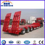 China-Fabrik-Großverkauf 30ton, 50 Tonne, 60ton, 80ton, niedrige Ladevorrichtung 100ton Lowboy niedriger Bett-halb LKW-Schlussteil
