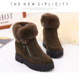 Ботинки лодыжки способа ботинок зимы женщин ботинок снежка теплые вскользь для ботинок клин женщин