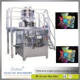 Impulsions automatique Machine d'emballage de pesage de remplissage rotatif avec peseur Multihead
