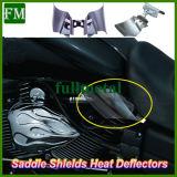 Седловина защищает воздухоотклоняющее устройство жары для Harley Dyna '99- '16