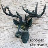 Esin 동물성 사슴 헤드 또는 가정 훈장 수지 동물성 맨 위 벽 훈장