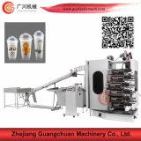 Machine d'impression offset de cuvette de yaourt de 6 couleurs