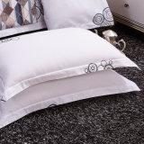 印刷の綿のコテッジの白い羽毛布団カバー