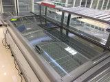 Mähdrescher-Insel-Gefriermaschine-Tiefkühltruhe-große Kapazitäts-Werbungs-Gefriermaschine