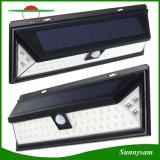 angeschaltene Licht-wasserdichte Bewegungs-Fühler-Sicherheits-Wand-Solarlampe des Garten-54LED