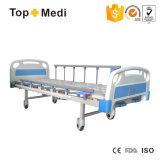 病院装置の鋼鉄重負荷容量2機能セリウムISOのFDAが付いている手動ホームケアの病院用ベッド