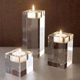 Glaskristallkerzenhalter-Stock-Spalte-Kerze-Kristallkandelaber-Tee-Licht-Halter-Kerzenhalter-Hochzeits-Ausgangsstab-Dekoration
