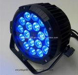 새로운 전문가 18PCS*10W RGBW LED 방수 동위 빛