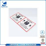 Kundenspezifischer gedruckter selbstklebender Batterie-Aufkleber