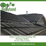 Hoja con techos de metal recubierto de piedra color teja (clásica)