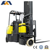 Narrow Aisle Electric Forklift Indoor Warehouse Space Saving Truck