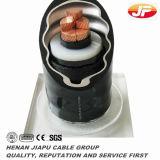 Singolo cavo elettrico isolato XLPE del fodero del PVC del conduttore del rame di memoria