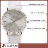 Relógio novo das meninas da forma do projeto, relógio ultra fino de quartzo, relógio de couro