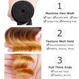 Il colore peruviano all'ingrosso T1b/30 di Yvonne Ombre slaccia l'estensione dei capelli umani dell'onda