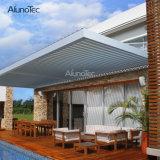 Alunotec al aire libre impermeabiliza la pérgola de aluminio motorizada del Gazebo del jardín con las persianas